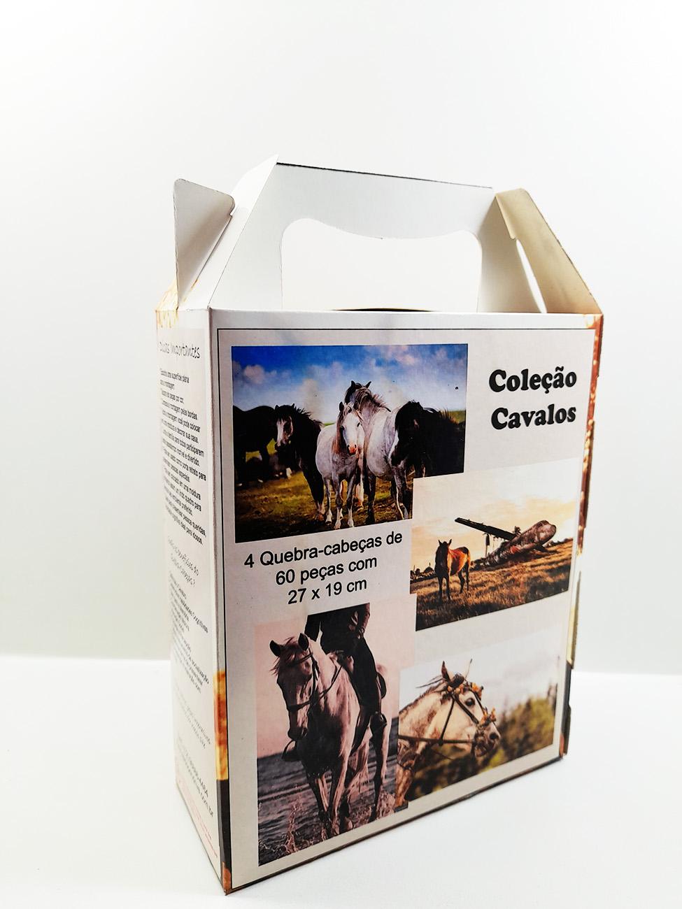 Quebra-Cabeça Cognitivo Reabilitação para Idosos - Cavalos