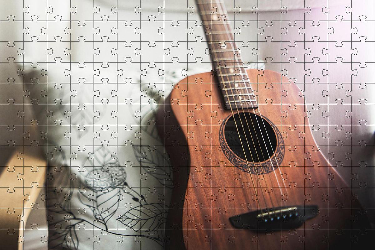 Quebra-Cabeça Cognitivo Reabilitação para Idosos - Música -  48 peças