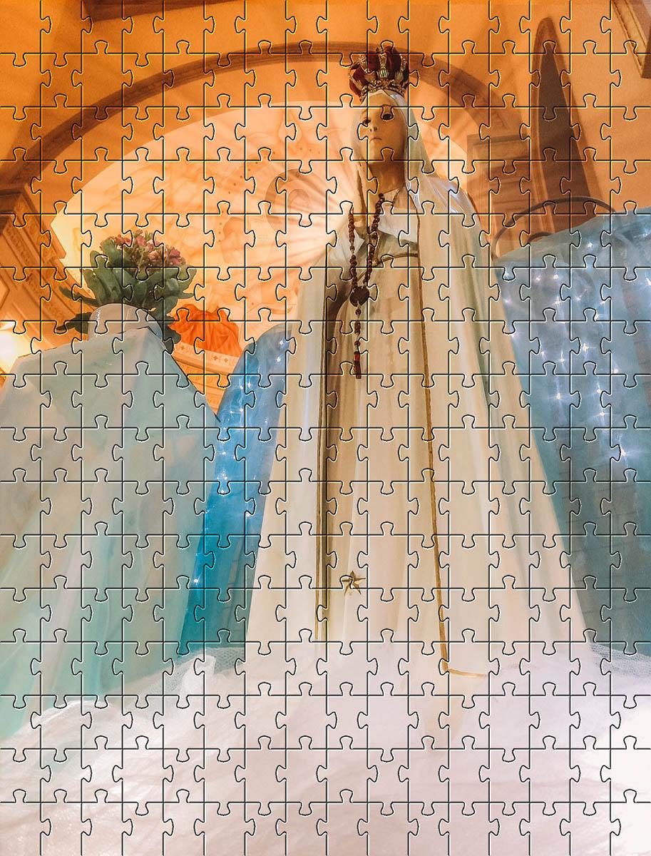 Quebra-Cabeça Cognitivo Reabilitação para Idosos - Nossa Senhora de Fátima 60 peças