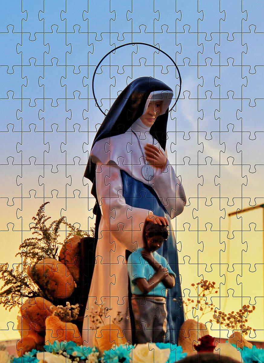 Quebra-Cabeça Cognitivo Reabilitação para Idosos - Santos de Deus - 60 peças