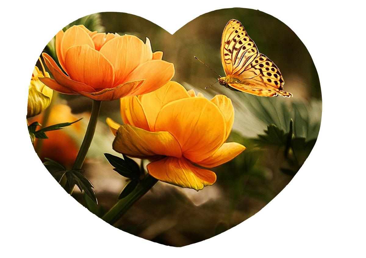 Quebra-Cabeça Coração Cognitivo para Idosos - Flores - 52 peças