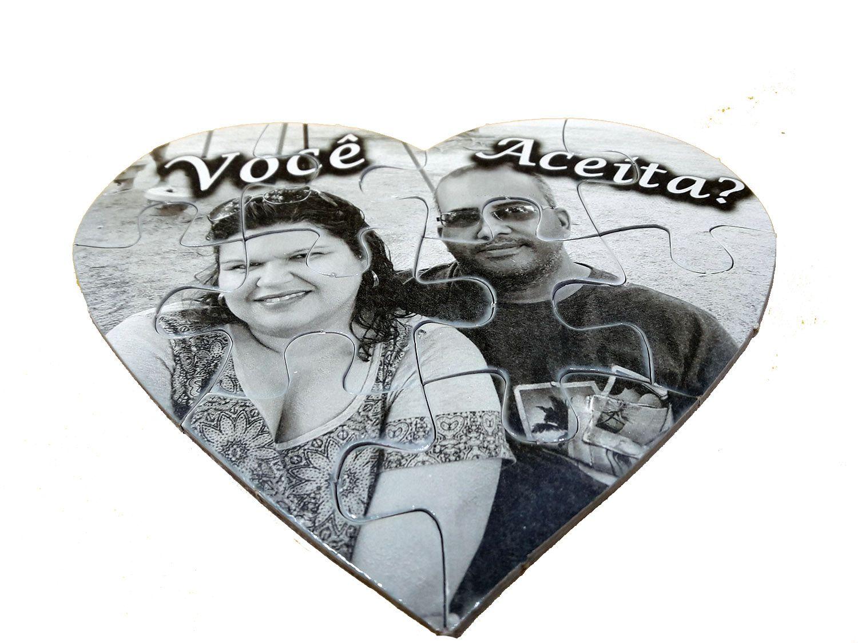 Quebra-Cabeça Coração dia dos Namorados com fotos