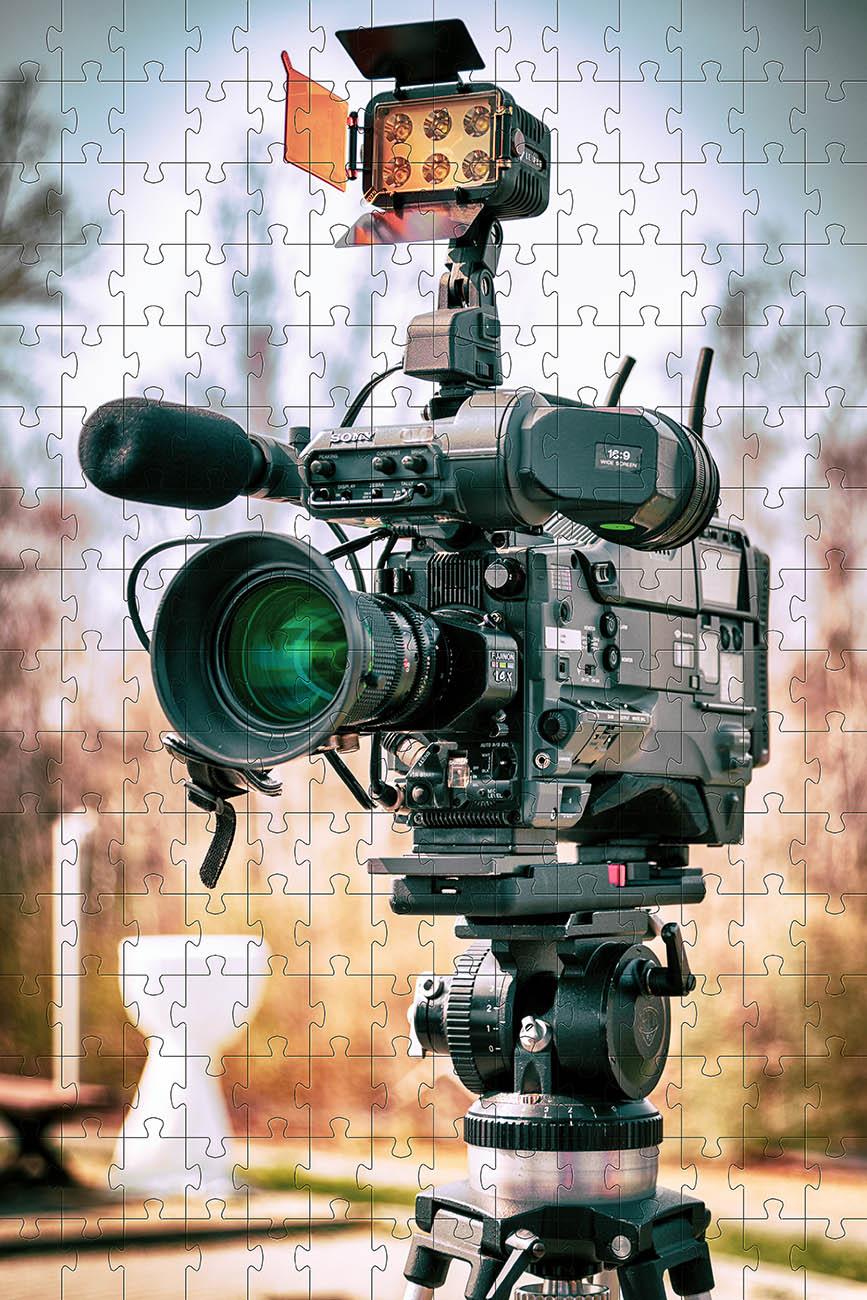 Quebra-cabeça Decorativo Filmadora de 300 peças