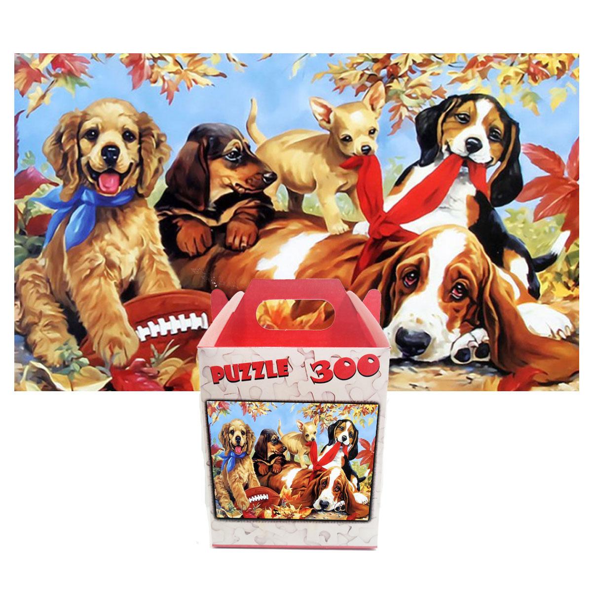 Quebra-cabeça decorativo pintura Pets Felizes de 300 peças