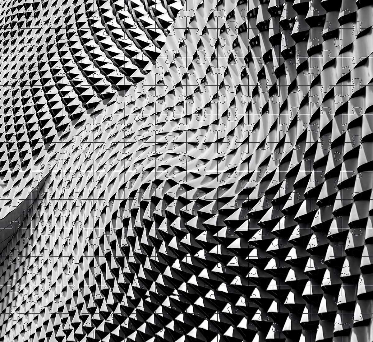Quebra-cabeça dificil para adultos linha Abstract Secret 165 peças - black and Yellow