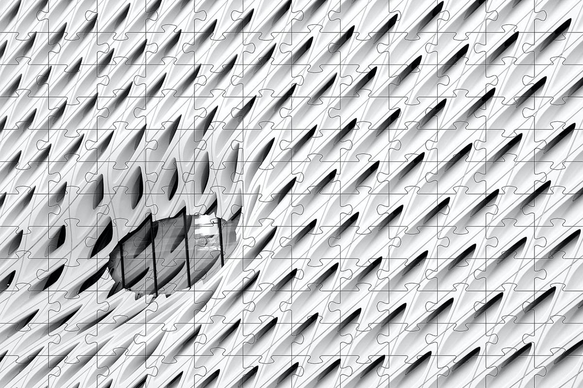 Quebra-cabeça dificil para adultos linha Abstract Secret 165 peças - Grey and Life Colors