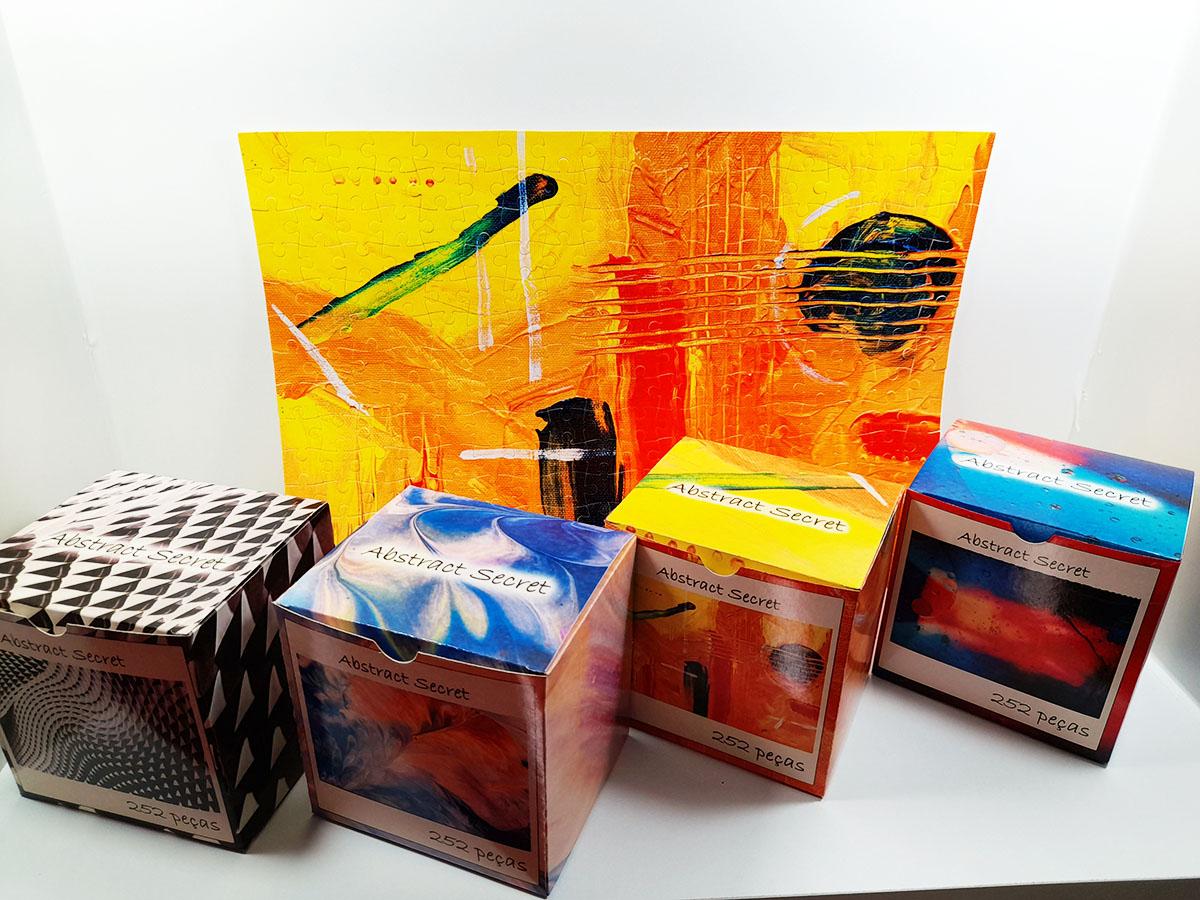 Quebra-cabeça dificil para adultos linha Abstract Secret 252 peças - black