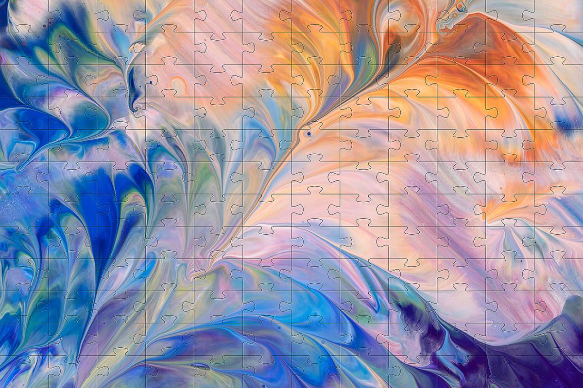 Quebra-cabeça dificil para adultos linha Abstract Secret 252 peças - Flower