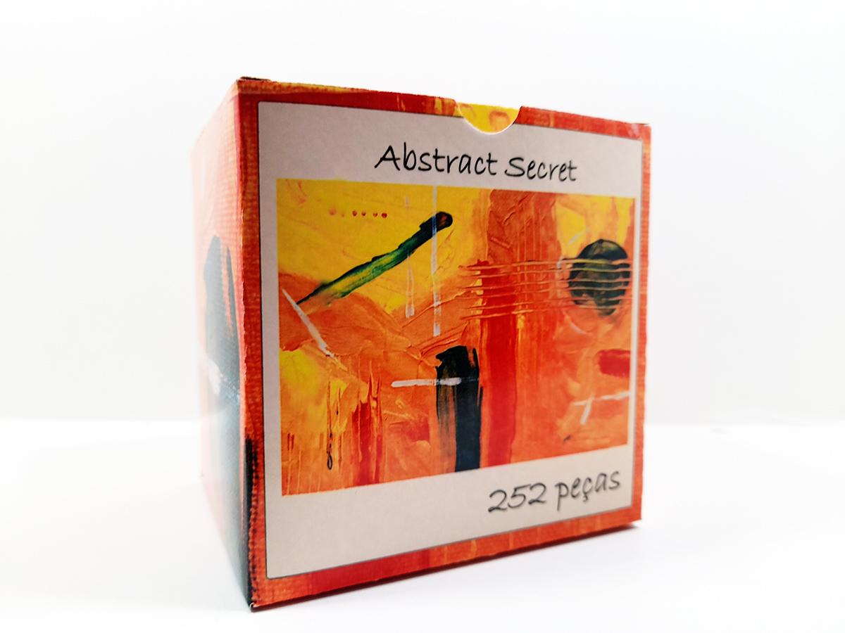 Quebra-cabeça dificil para adultos linha Abstract Secret 252 peças - Yellow