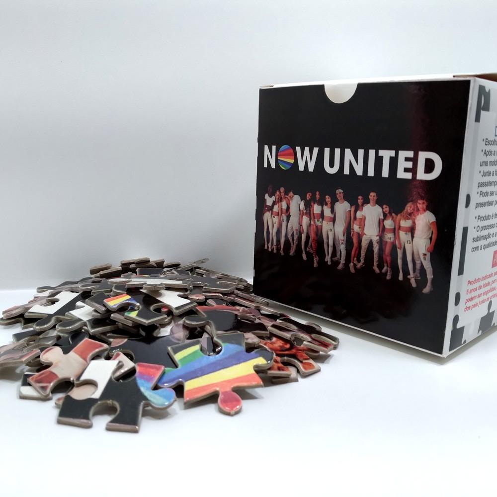 Quebra-cabeça Grupo Now united de 300 peças + brinde