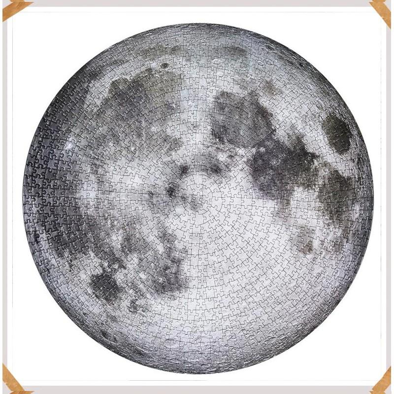 Quebra-cabeça importado redondo - A Lua - 1000 peças