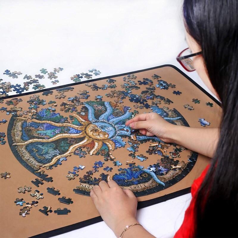 Quebra-Cabeça Importado Redondo - Horoscopo - 1000 peças