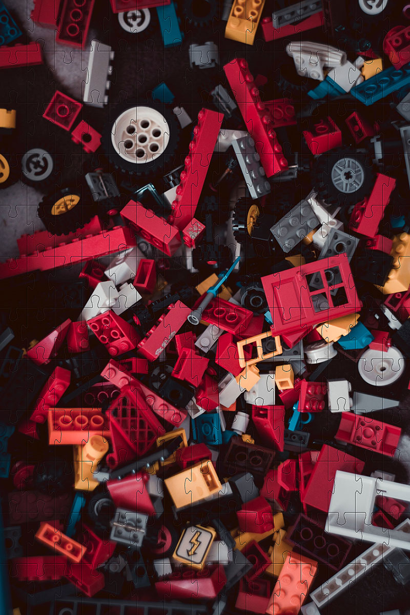 Quebra cabeça infantil Adulto Desafio Lego - 48 peças