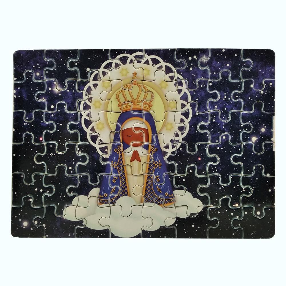 Quebra-Cabeça Infantil Nossa Senhora de  60 peças com Terço