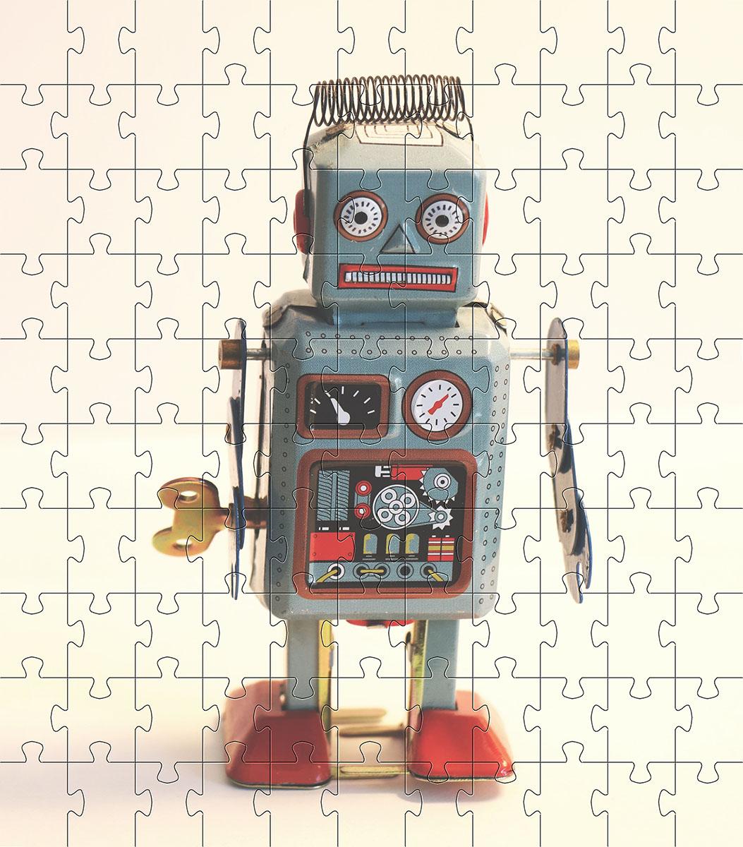 Quebra cabeça infantil para Crianças - Tema Brinquedos - 24 peças