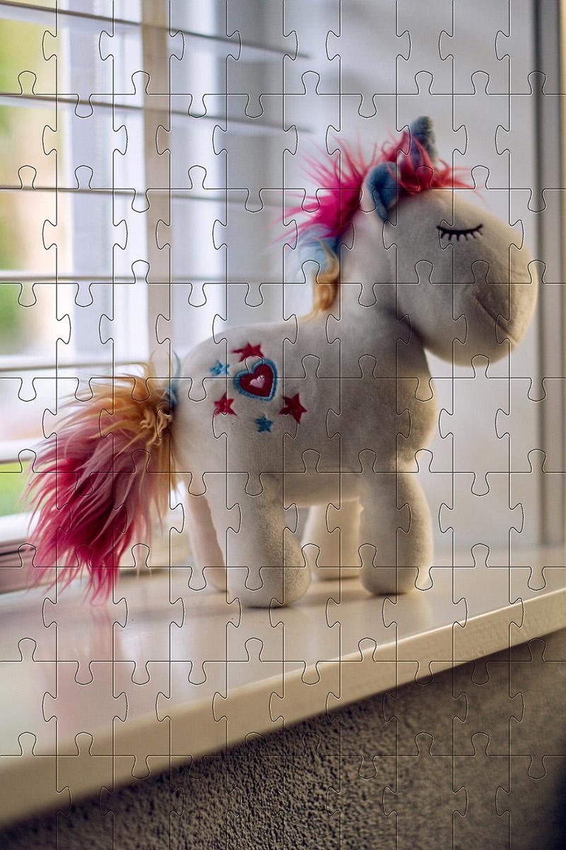 Quebra cabeça infantil Unicórnio - 48 peças para crianças