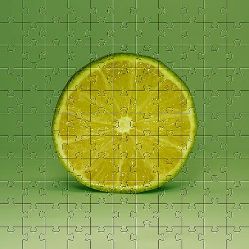 Quebra-cabeça Limão De 252 Peças + Chaveiro