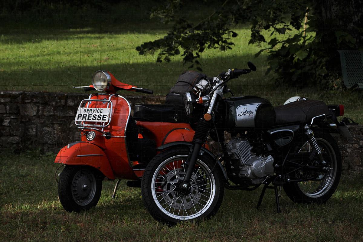 Quebra Cabeça Motocicleta de 1000 peças + Chaveiro presente