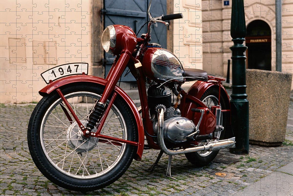 Quebra Cabeça Motocicleta de 165 peças + Chaveiro presente