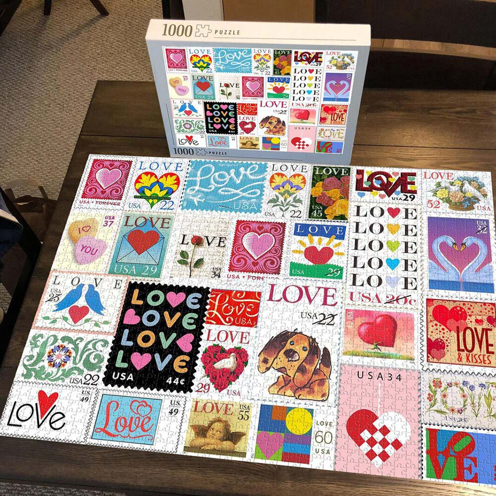 Quebra Cabeça Namorados Lovers de 1000 peças + Chaveiro presente