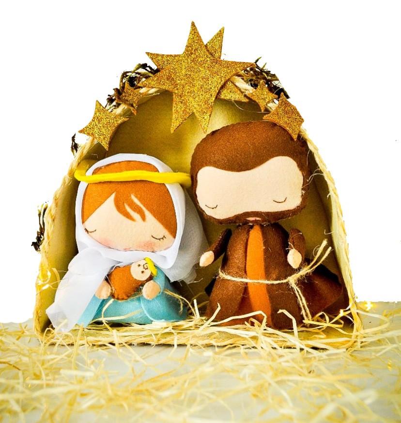 Quebra-cabeça Nascimento de Jesus + Presépio Sagrada Familia