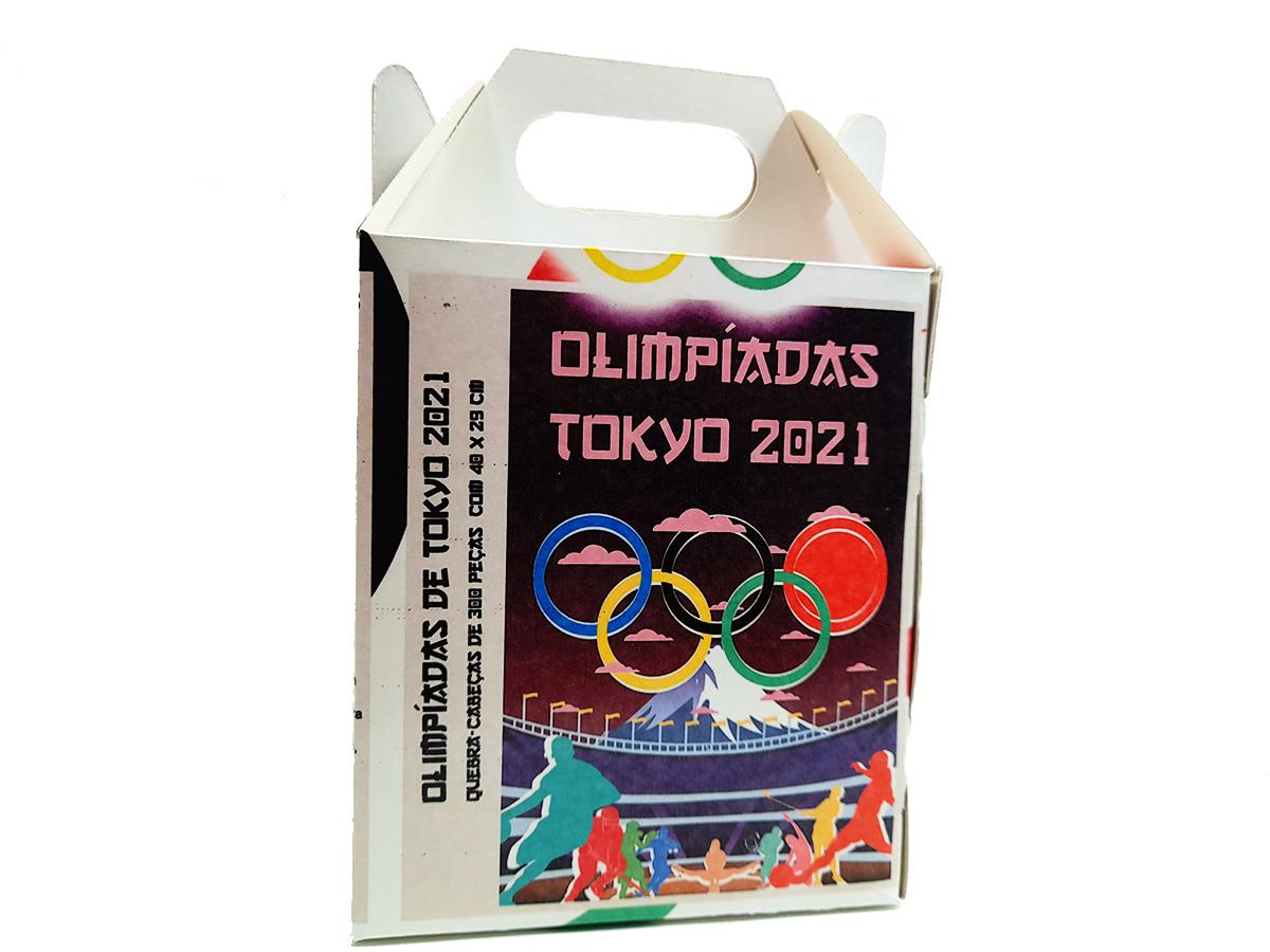 Quebra Cabeça Olimpíadas de Tóquio de 1000 peças + Mouse Pad