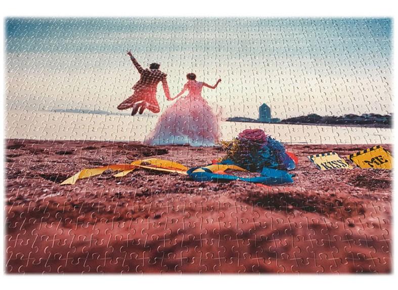 Quebra-Cabeça Personalizado 300 peças aveludado com fotos