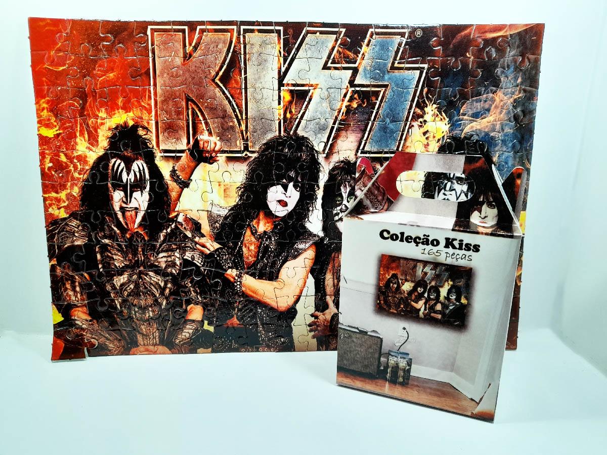 Quebra-cabeça personalizado Banda Kiss 90 peças + brinde