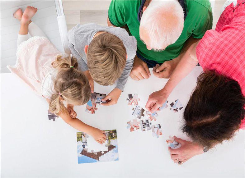 Quebra-Cabeça Personalizado Cognitivo para Idosos com 60 peças
