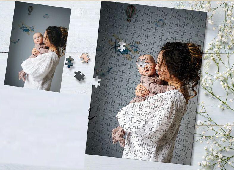 Quebra-Cabeça Personalizado com Fotos 1000 peças + Brinde
