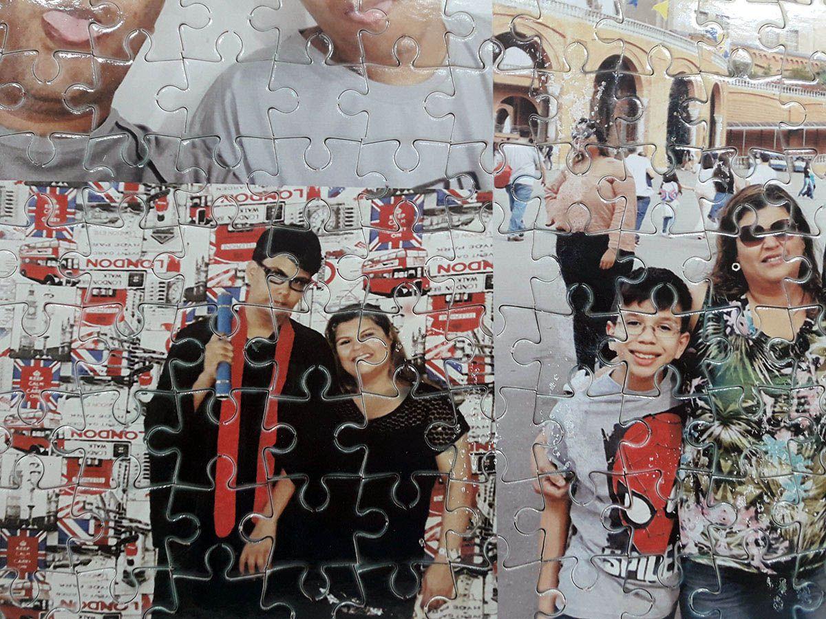 Quebra-Cabeça Personalizado com Fotos 165 peças + moldura para quadro