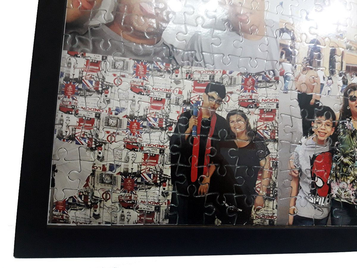 Quebra-Cabeça Personalizado com Fotos 90 peças com Moldura