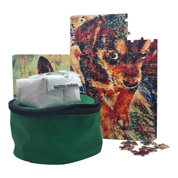 Quebra-Cabeça Personalizado de Pets + Brindes para Passeio