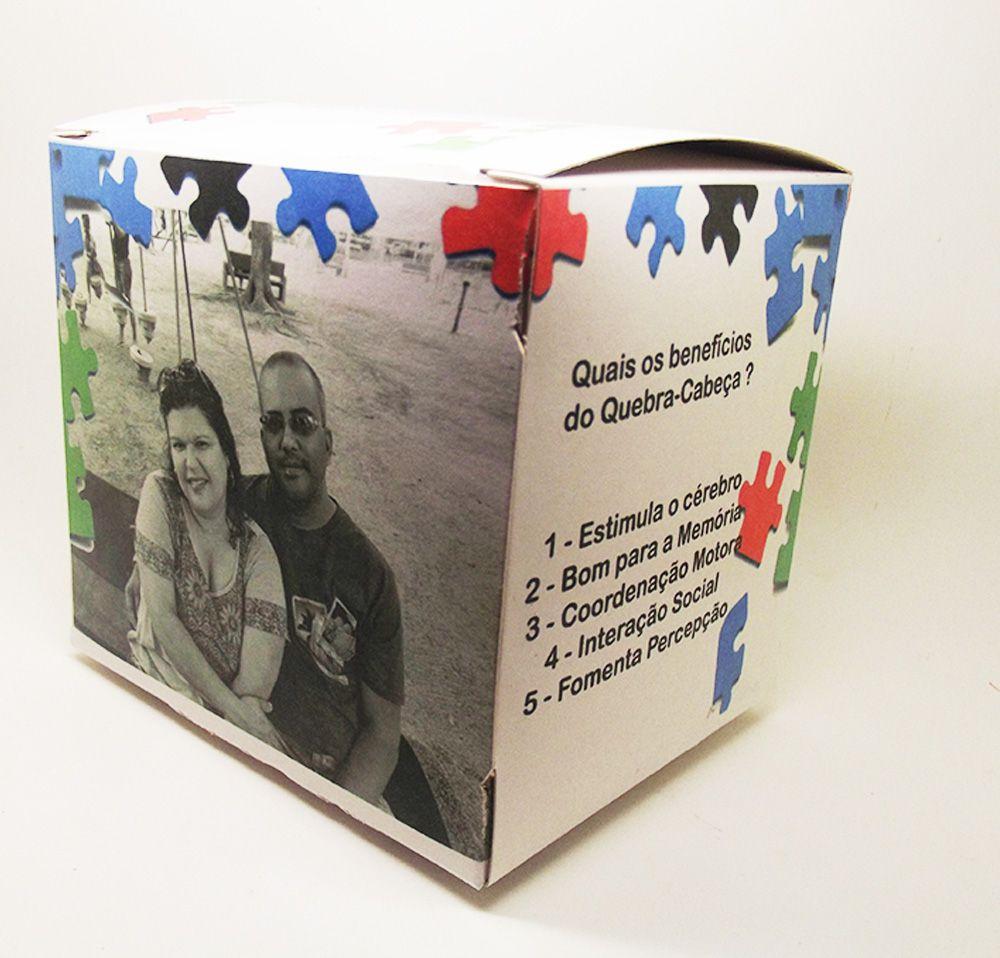 Quebra-Cabeça Personalizado Desenho Nanquim 165 peças com moldura