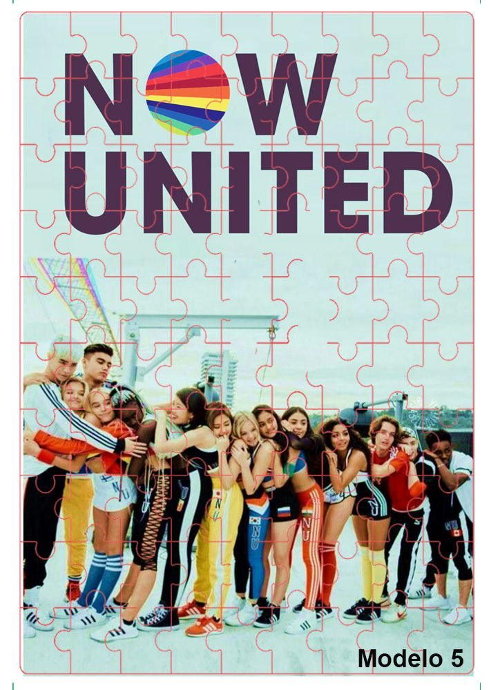 Quebra-cabeça personalizado Grupo Pop Now united - 60 peças