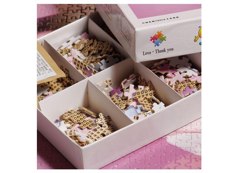 Quebra-Cabeça Personalizado Importado - 300, 500, 1000 e 1500 peças  - com caixa personalizada