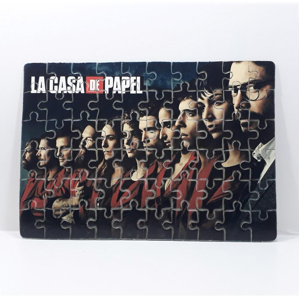 Quebra-cabeça personalizado La Casa de Papel de 90 ou 60 peças