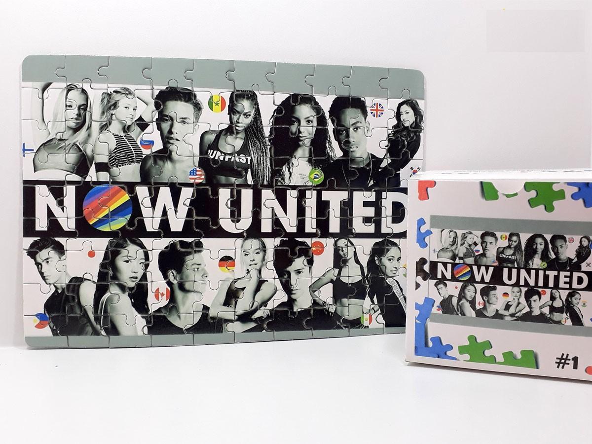 Quebra-cabeça personalizado  Now united + caixa MDF Personalizada - 90 peças