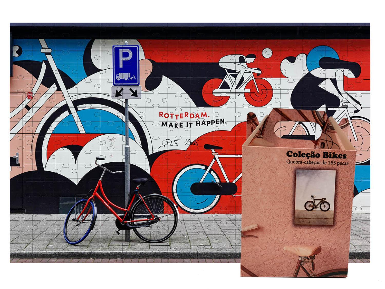 Quebra Cabeça Puzzle Bicicletas 165 peças - Coleção Art Bike + Toalha