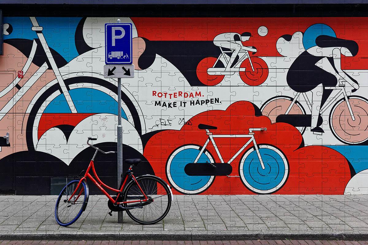Quebra Cabeça Puzzle Bicicletas 300 peças - Coleção Art Bike + Toalha