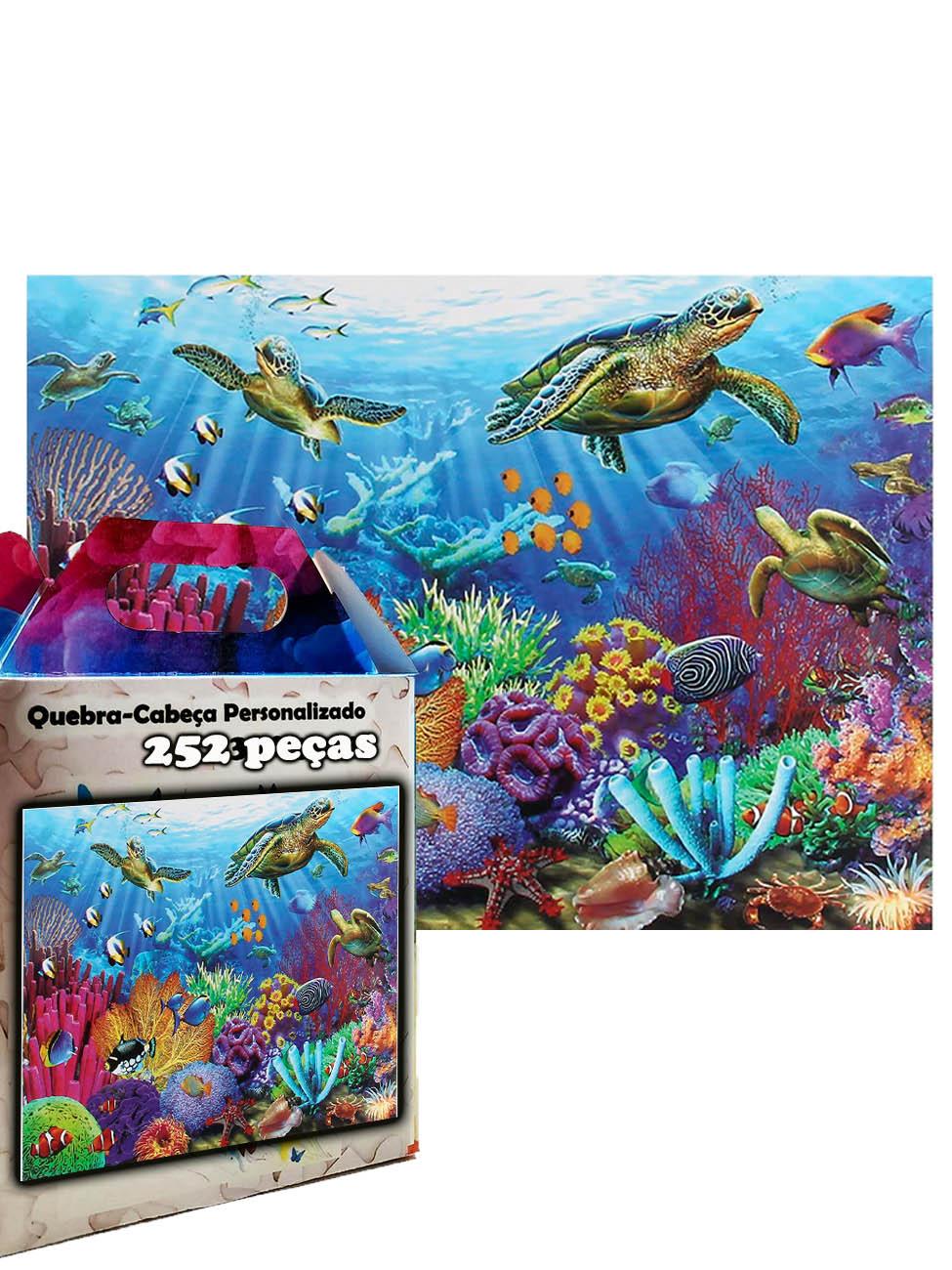 Quebra-cabeça Puzzle Fundo do Mar de 252 peças