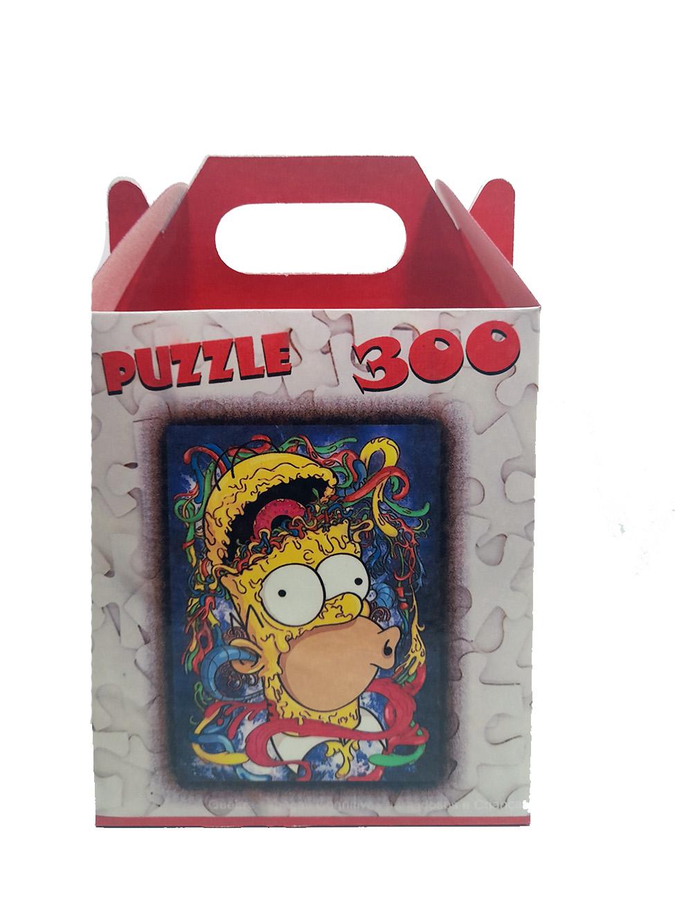 Quebra-cabeça Puzzle Homer Abstrato de 300 peças