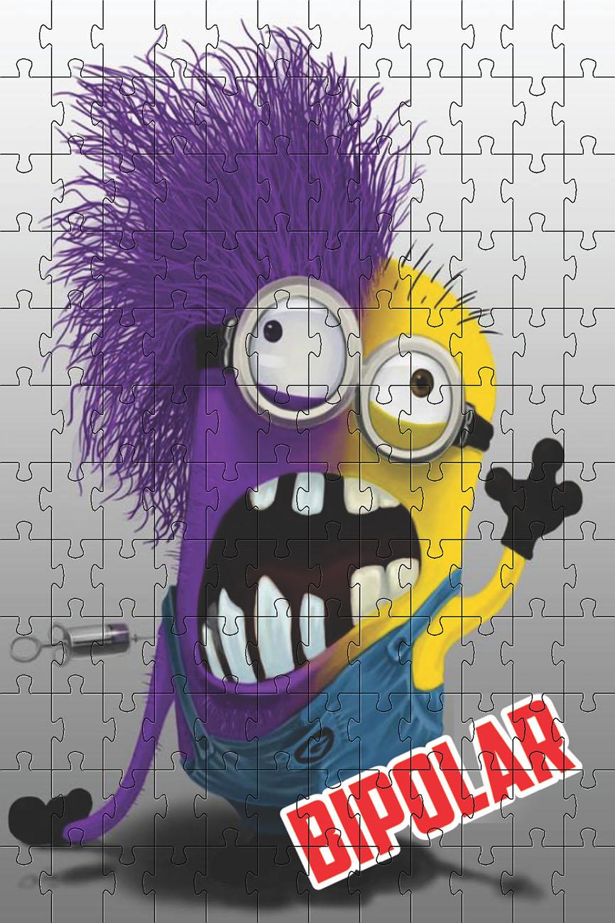 Quebra-cabeça Puzzle Sou Bipolar de 300 peças