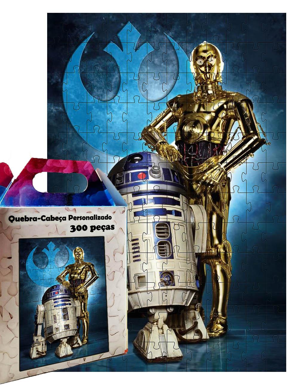 Quebra-Cabeça Puzzle Star Wars R2D2 e C3PO de 300 peças