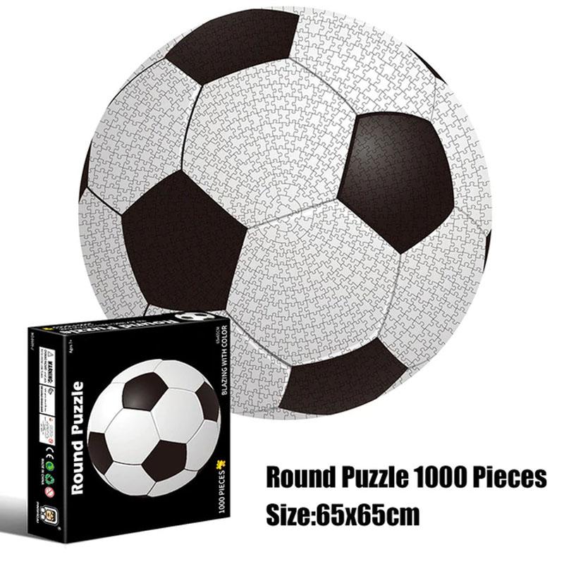 Quebra-Cabeça Redondo Bola de Futebol - 1000 peças - Pronta Entrega