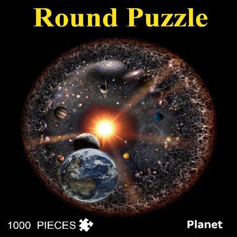 Quebra-cabeça redondo - O Espaço - 1000 peças Pronta Entrega