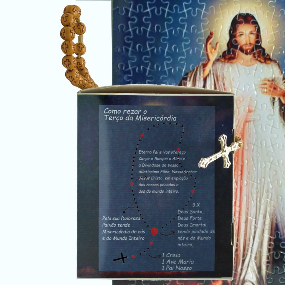Quebra-Cabeça Religioso Jesus Misericordioso de 165 peças + Terço Especial