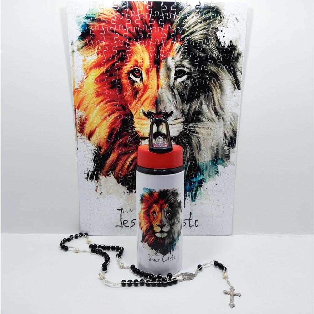Quebra-Cabeça Religioso Leão de Judá de 300 peças + Terço Especial