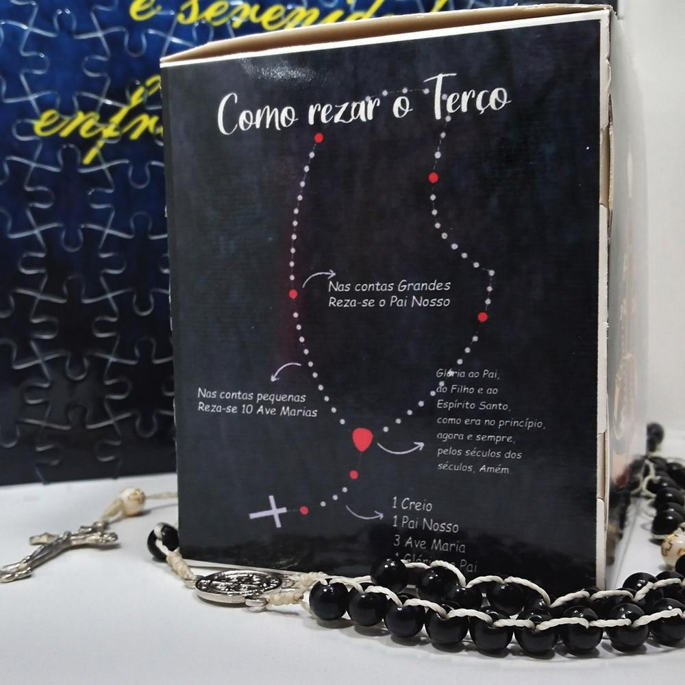 Quebra-Cabeça Religioso Nossa Senhora Aparecida de 165 peças + Terço Especial
