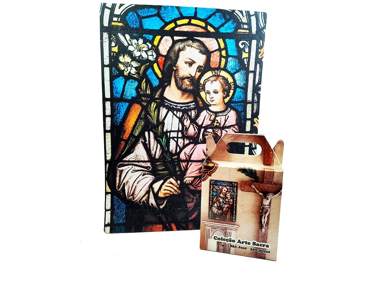 Quebra-Cabeça Religioso São José de 300 peças + Terço Especial